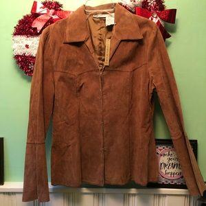 NWT Genuine Leather Suede Jacket